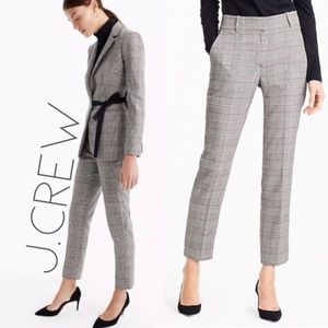 NWT J. Crew 365 grey plaid trouser ankle pants 14